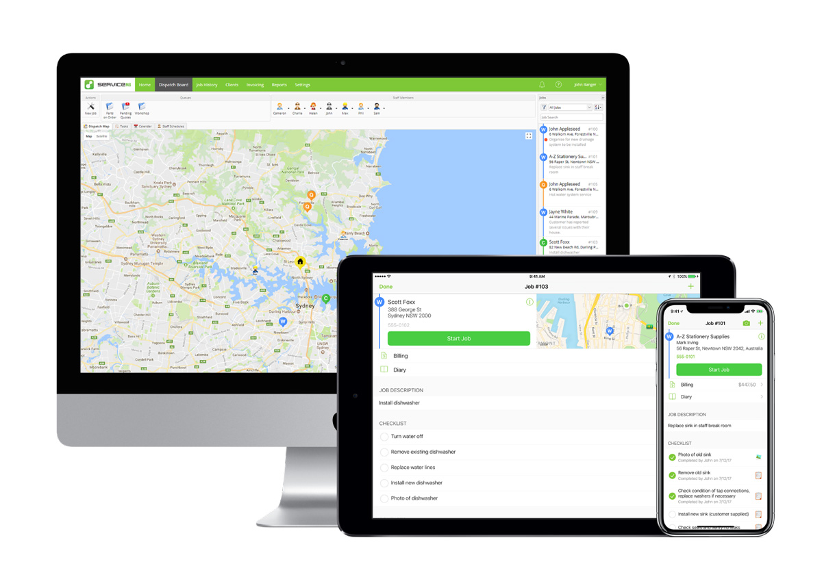 Servicem8 - on all devices